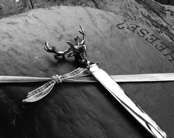 Stag design cheese knife