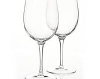 Set of 2 Personalized/Customized Etched Wine Glasses (Choose your own design and/or text for us to create)