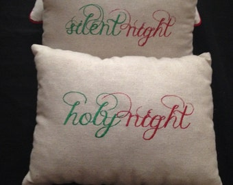 Silent Night Holy Night Pillows (2)