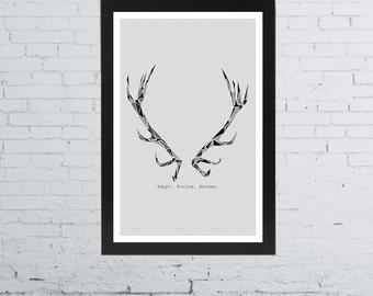 Hannibal - Will Graham Minimalist Photo Print   11 x 17 Inches