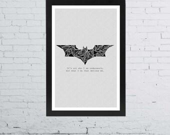 Batman Minimalist Poster | 11 x 17 Inches