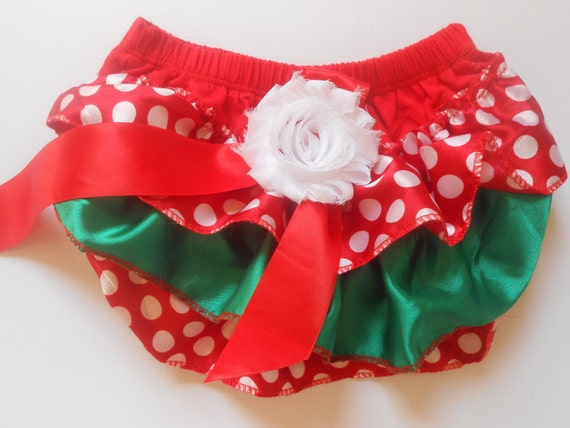 Baby Bloomer, baby diaper cover,Baby outfit, lace bloomer, diaper cover, christmas bloomer