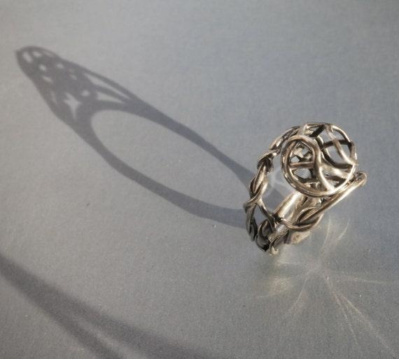 sterling silver swivel ring resized