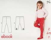Girls leggings pattern, baby pants, longies Enna, ebook with illustrated tutorial - easy ebook pdf sewing pattern