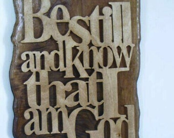 Be Still and Know - Wall Hanging
