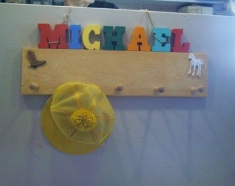 Personalized Named Peg Rack