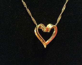 SALE 925 Heart Necklace
