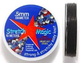 Stretch Magic - .5mm - Black - 10m/32ft