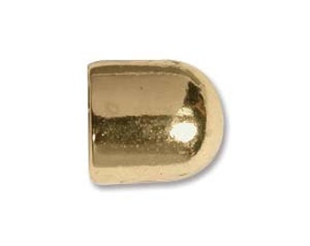 Non Tarnish Brass End Cap 10mm - Pack 2