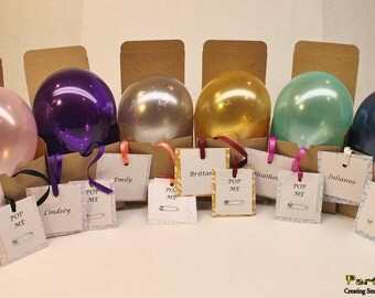 Ask Bridesmaid To Be In Wedding Balloon Gift Box Tied With Your Colors