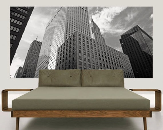 Testiera letto adesiva stampa fotografica adesiva per parete - Spalliere da letto ...