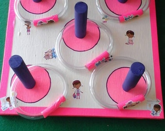 Ring toss for young children/toddlers/tabletop