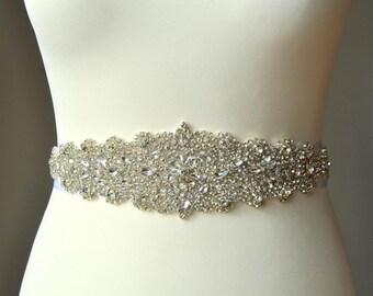 SALE Luxury Crystal Bridal Sash,Wedding Dress Sash Belt,  Rhinestone Sash,  Rhinestone Bridal Bridesmaid Sash Belt, Wedding dress sash