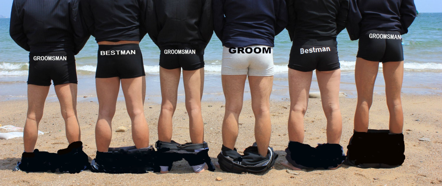 wedding gift clothing groom groom gift boxers