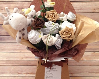 Neutral baby clothing gift bouquet/girl or boy