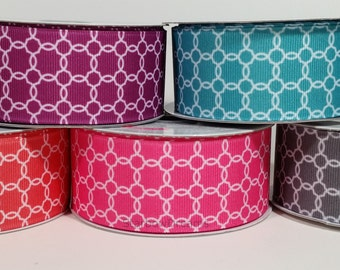 "1 1/2"" Grosgrain Trellis Ribbon - 10 Yards"