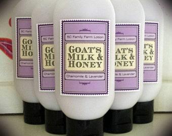 Lavender Chamomile Goat Milk & Honey Lotion