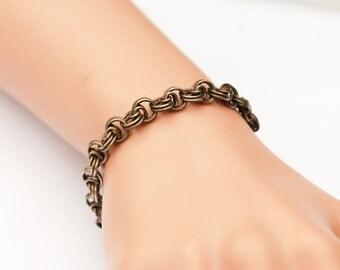 Fine Vintage Thick linked Bracelet