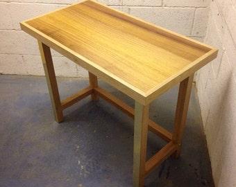 Mahogany and white oak study desk