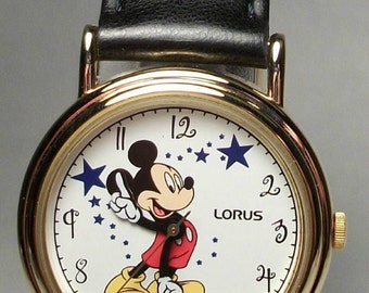 Disney Retired Pts. To Time Mickey Mouse Watch! New