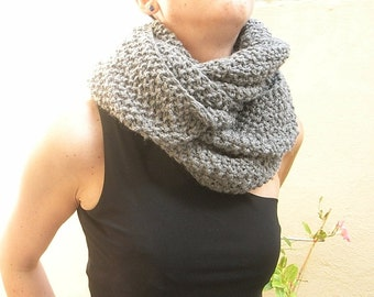 NEW design!  - Hand knitted slouchy Infinity scarf