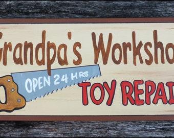 GRANDPA'S WORKSHOP SIGN