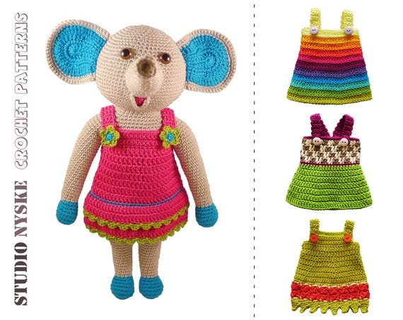 Doll clothes PATTERN dress up toy amigurumi LARGE by ...