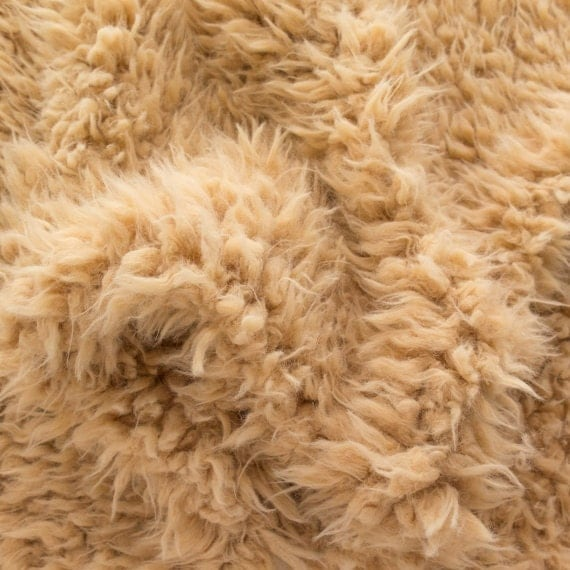 Faux Fake Fur Sherminky Soft Goat Hair Camel 60 Inch Fabric by