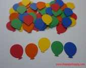 100 Balloons Bright Primary Colours Die Cut Confetti