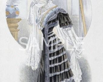 Vintage Fashion  Fabric Block  13-1635