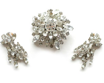 Lilly Daché Brooch and Earring Set