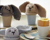 Instant Download - PDF- EASY Bunny Egg Cosies Knitting Pattern (H11)