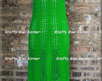 Crochet Vintage-Inspired 1970s Maxi Dress - Made to Order