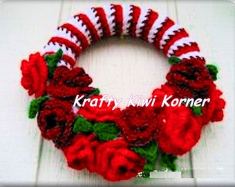 Crochet Christmas Wreaths - Made to Order