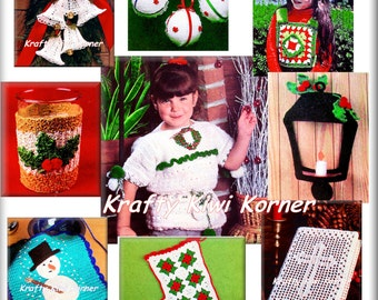 Crochet Christmas Vintage Gift Patterns Booklet-Part One - 21 Patterns for 3.99 Dollars