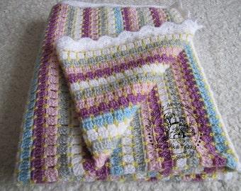 Crochet blanket  READY TO SHIP