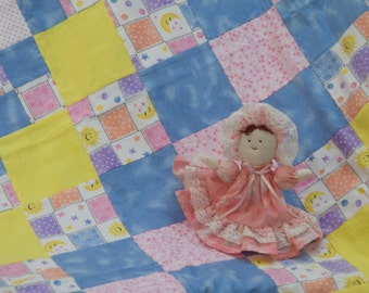 Suns and Moons Celestial Flannel Snuggly Patchwork Baby Blanket