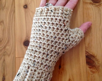 Fingerless gloves -oatmeal