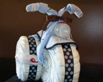 Polka Dot Diaper Tricycle Cake