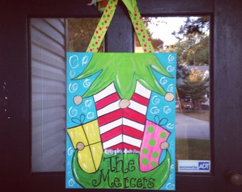 16x20 Christmas Elf Canvas Painting