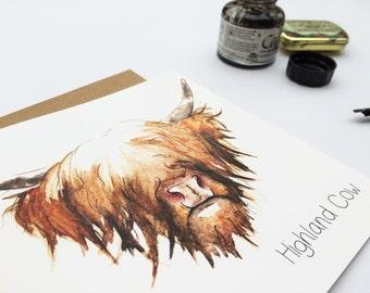 Highland Cow - Scottish Greetings Card