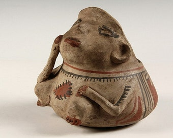 Mexican Pottery :Reproduction Casas Grande Pottery, Casas Grande Pottery Effigy, #714