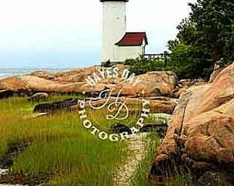Picture of Annisquam Lighthouse in Massachusetts.