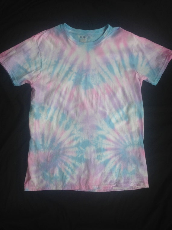 Blue Purple And Pink Tie Dye Short Sleeve T-shirt Pink/blue/purple Tie Dye Short
