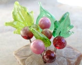 Lampwork Headpins, Lampwork Jewelry Supplies, Christmas Decoration Pins, Winter Berries, Handmade Glass Beads
