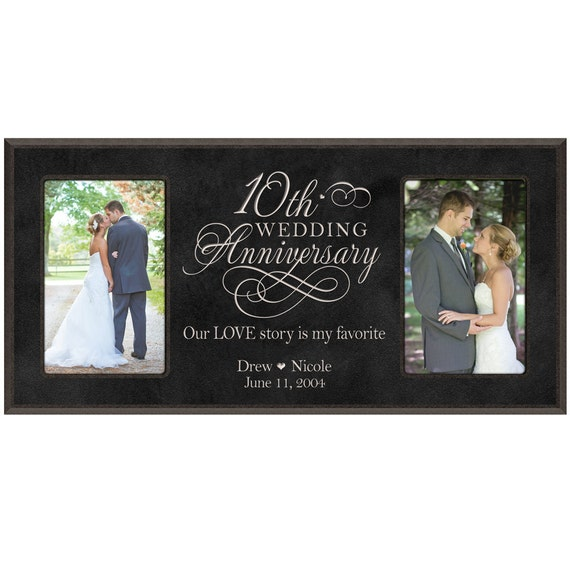 Personalized 10th Wedding Anniversary Photo By DaySpringMilestones