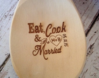 Wooden spoon, personalized wooden spoon, mother's day gift, engraved wooden spoon, love