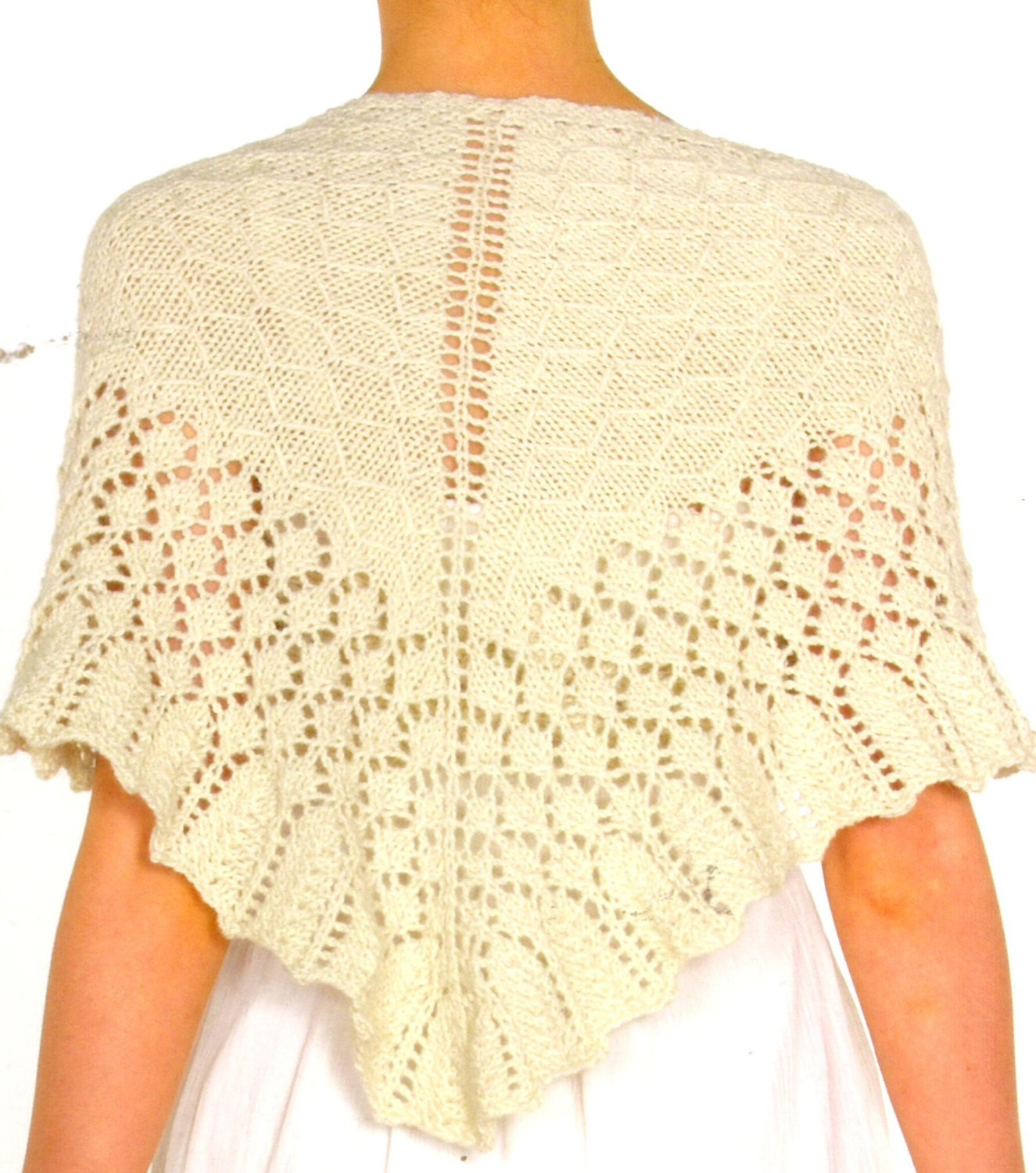 Knitting PDF pattern Lace Triangle Shawl by ...