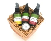 Holiday Gift Box. Aromatherapy Gift Set. Organic Gift Basket