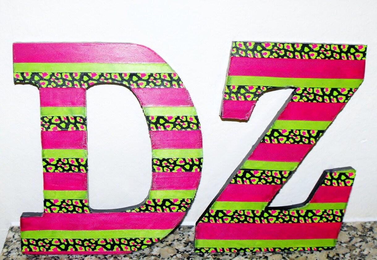 Custom Sorority Ribbon Wooden Letters By Zigzagsj On Etsy